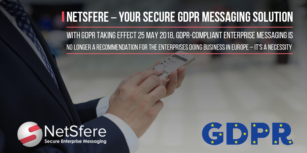 GDPR Compliant Secure Enterprise Messaging